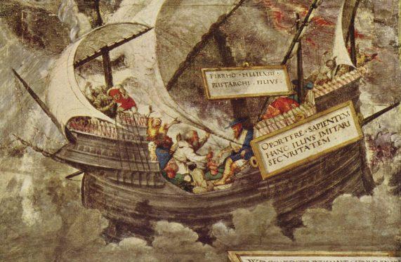 Petrarca-Meister, Il filosofo Pirrone sul mare in tempesta